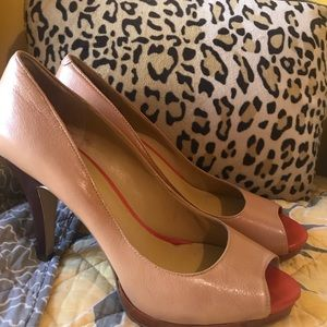 Nine West Tan Heels